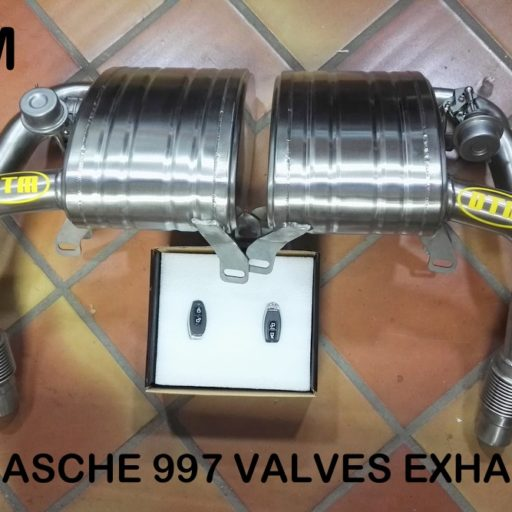 DTM PORSCHE 911 997-2 CARRERA CAT BACK VALVE EXHAUST SYSTEM in the set the L+R tubes on the front