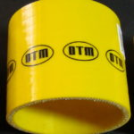 DTM YELLOW SILICON hose STRAIGHT 90mm long / 80/80
