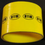 DTM YELLOW SILICON hose STRAIGHT 90mm long / 90/90
