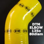 DTM YELLOW SILICON ELBOW – 135o / 80mm-80mm