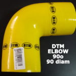DTM YELLOW SILICON ELBOW – 90o / 90mm-90mm