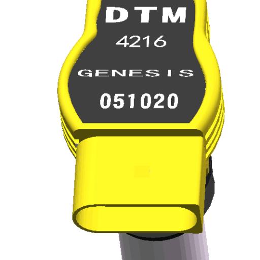 LAMBORGHINI 5,0-5,2 V10 DTM MOTORSPORT GENESIS YELLOW COILS / DTM.COIL-051020