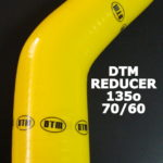 DTM YELLOW SILICON ELBOW reducer – 135o / 70mm-60mm