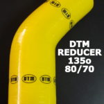 DTM YELLOW SILICON ELBOW reducer – 135o / 80mm-70mm