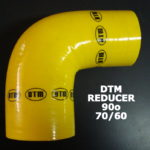 DTM YELLOW SILICON ELBOW reducer- 90o / 70mm-60mm