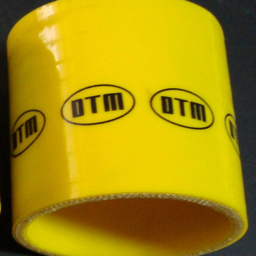 DTM YELLOW SILICON hose STRAIGHT 90mm long / 70/70