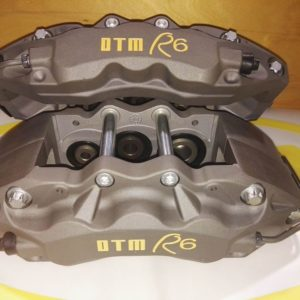 DTM R,line R6 ROAD RACE BRAKE CALIPERS, DTM.R6 BLACK ANODIZED x 3420 grms