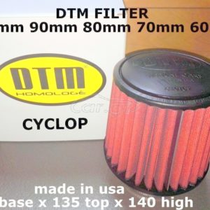 DTM CYCLOP racing FILTER UNIVERSAL (XOANH) neck 100mm / base diam 145mm / high 140mm / top diam 130mm