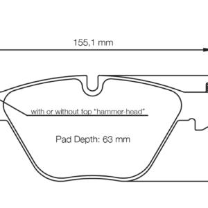 BMW 1 DTM SPORT PADS E82 M COUPE / 11-13 FRONT
