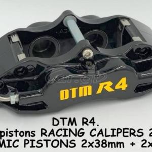 DTM R line R4 ROAD RACE BRAKE CALIPERS, DTM. 4 pistons BLACK