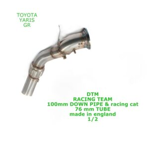 DTM TOYOTA YARIS GR DOWN PIPE 100mm & CAT racing TUBE 100mm/76mm incl GPF Delete Performance Exhaust